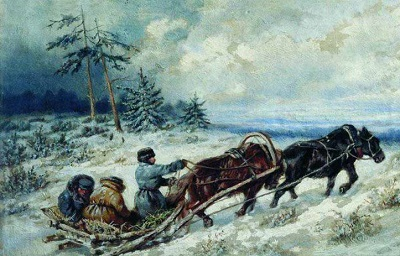 Пушкин зимняя дорога fb2